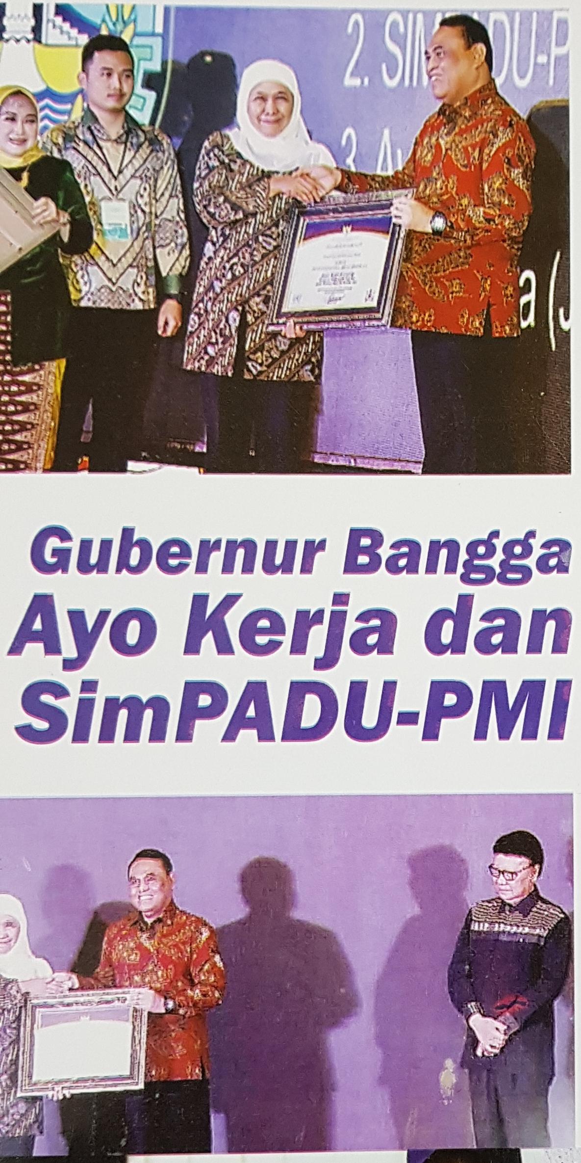 Gubernur Jatim Bangga Inovasi AyoKerja dan simPADU-PMI ikut Serta di Anjang United Nations Public Service Award (UNPSA) 2019